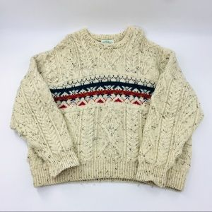 Aran Crafts Wool Chunky Cable Sweater from Ireland